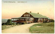 North Salem Ny - Ye Port Of Missing Men - Handcolored Postcard