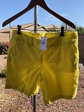 Ann Taylor loft yellow cargo shorts size for NWT $39 space Z2