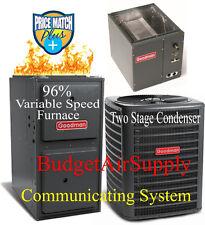 4 Ton Goodman TWO STAGE 16 seer 96% 120K BTU Gas Furnace DSXC160481+GMVC961205DN