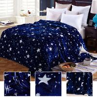 couvre-lit étoile couverture polaire Soft flanelle couverture jete de lit canapé