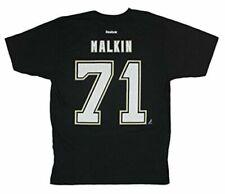 NHL Pittsburgh Penguins Evgeni Malkin Black Reebok Player T-shirt Medium
