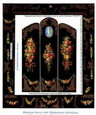 1:12 scale Natasha Beshenkovsky's Mini Decoupage- Victorian Screen w/Wedgewood