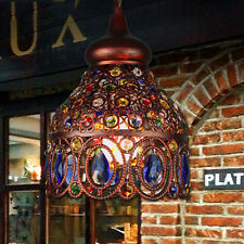 Tiffany Style Stained Glass Lamp Shade Flower Pattern Chandelier Ceiling Light