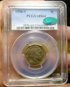 1930 S Buffalo Nickel PCGS MS64 CAC
