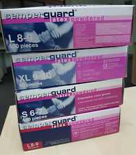 Latex Einweghandschuhe gepudert Semperguard Größe L