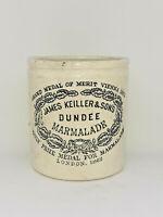 Victorian Old JAMES KEILLER & SONS DUNDEE MARMALADE JAR/POT Stoneware