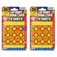8 Shot Ring Cap 2 Cards 72 Shots 144 Shots Total