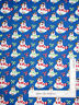 Christmas Frosty Snowman Candy Canes Blue Cotton Fabric QT Favorite By The Yard