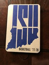 1977-78 Indiana State Sycamores College Basketball Schedule Larry Bird JR Year