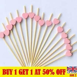 100pcs Cocktail Sticks Party Frilled Toothpicks Sandwich Appetizer Picks UK