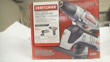 Craftsman Nextec 12V 3/8 drill driver + oscillating multi tool kit, #30287, nos