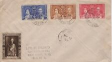 Leeward Islands -1937 KGVI Coronation First Day Cover to New York -Photo Label