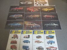 1978 Rare Excellent COMPLETE Set of 14 1978 Chevrolet CAR & TRUCK Postcards 1978