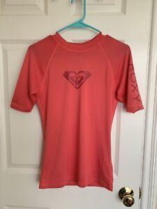 ROXY Rash Guard Quick Dry Surf Shirt in Pink