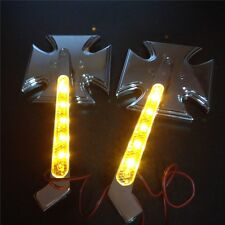 Motorcycle LED Turn signal Maltese Cross mirrors fit for HONDA CBR900RR CHROME