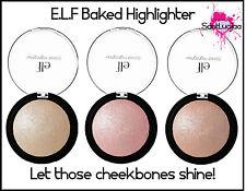 E.L.F ELF BAKED HIGHLIGHTER PINK GOLD BLUSH BLSHER HIGHLIGHTING PRESSED POWDER