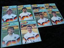 8x Micky Maus Sammelkarten WM 1990 Beilage WORLD CUP 90 Deutschland Brehme DFB