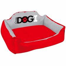 MEDIUM DOG MATTRESS BED Red Pet/Animal Comfy Canvas Waterproof Mat/Cushion
