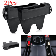 2x Universal Car Accessories Seat Gap Organizer Slit Catcher Box Storage Pocket
