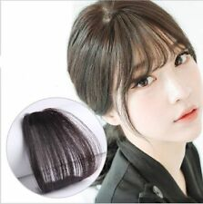 Women Thin Neat Air Bangs/Fringe Clip on/in Hair Extensions Remy Human Hairpiece