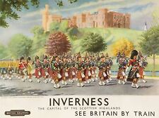ART PRINT POSTER TRAVEL INVERNESS BRITISH RAILWAYS SCOTLAND HIGHLANDERS NOFL1106