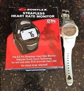 Bowflex Strapless Heart Rate Monitor EZ Pro Watch ECG Water Resistant Green