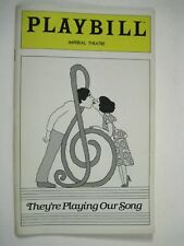Neil Simon They're Playing Our Song Playbill 1980 Lucie Arnaz Tony Roberts