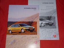 CITROEN Xsara Coupes X SX Exclusive VTS Prospekt Brochure Depliant von 1998