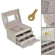 Schmuckkasten Schubladen Schmuckkoffer Schmuckkästchen Schmuckbox WEIß