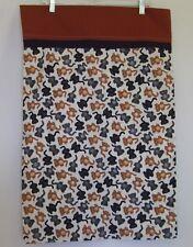 Cat Pillow Cases Home Made Black Grey Brown Kittens 29.5 x 19.5 Set Of 2 Feline
