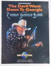 "CHARLIE DANIELS Signed Autograph ""The Devil Went Down To Georgia"" Sheet Music"