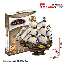 T4019H - HMS Victory Ship Vessel Collectible Kids or Adults Cubic Fun 3D Puzzle