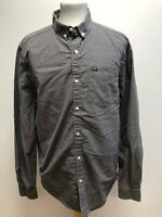 GG102 MENS SUPERDRY GREY CHECK THICK COTTON FITTED SHIRT UK LARGE L EU 54