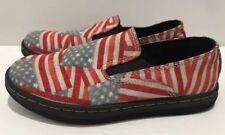 Kids Youth Timon American Flag Dr Doc Marten Shoes Loafer Slip On Size 12 Unisex