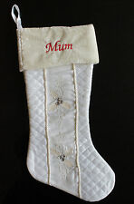 LUXURY PERSONALISED CHRISTMAS STOCKING - FREE EMBROIDERED NAME THIS WEEK ONLY