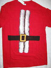 "NWT Men's M Red ""Santa Suit"" Christmas-Themed T- Shirt"