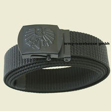 120cm, österr. BH Hosengürtel schwarz, Schnalle schwarz, ÖBH/Polizei Hosengürtel