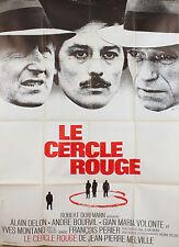 AFFICHE FILM LE CERCLE ROUGE 1969 - DELON, BOURVIL, MONTAND