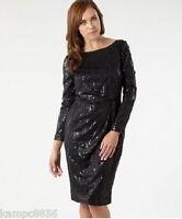New J Jasper Conran Black Snake Sequin Dress Sz UK 8 rrp £79