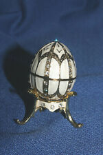 dFaberge elegent Mini Egg With Stand Opens For Ring Or Earrings, Hilwood Museum