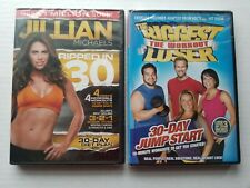 Lot of 2 Workout Dvd's - Jillian Michaels Ripped in 30 and The Biggest Loser