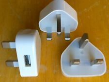 3 x Genuine Apple iPod iPad iPhone UK USB charger adapters job lot