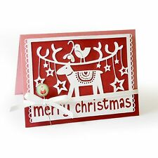 Sizzix Thinlits Cutting Embossing Stencil Dies MERRY CHRISTMAS 659916 - NEW