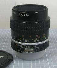 Nikon Micro-Nikkor 55mm f/2.8 AI-S Manual Focus Lens Made in Japan Please Read