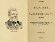 1897 EVANSVILLE & VANDERBURGH County Indiana IN, History and Genealogy DVD B36