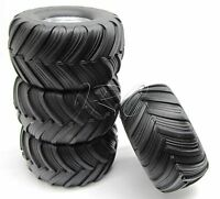 Skully/Craniac WHEELS & TIRES (4) preglued 3665 3663 Traxxas Monster Jam 36064-1