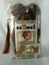 Scunci Faux Hair 8 inches Short Layered Jaw Clip Easy Clip On Easy Clip Off New