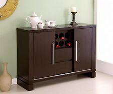 Modern Cabinet Buffet Storage Wine Rack Holder Home Bar Liquor Wood Dining NEW