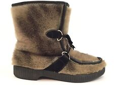ASPEN Women's Size 8.5, 9 After Ski Brown Black Fur Winter Snow Boots