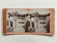 Tempio Baalbek Libano Foto J.Andrieu Stereo Vintage Albumina c1870